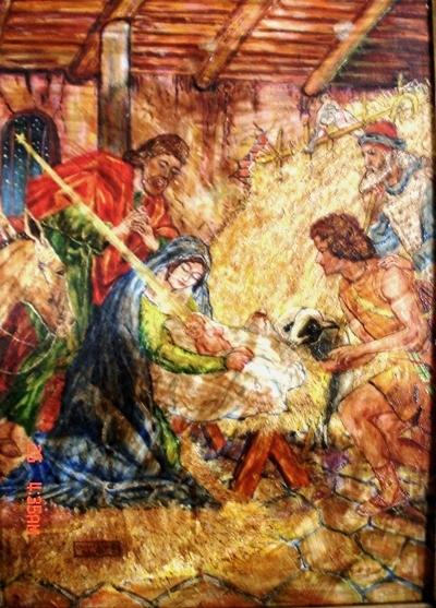 nasterea domnului nostru iisus hristos-pictura de cristian petru balan