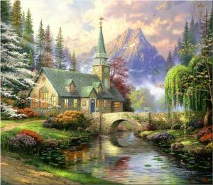 abr_thomas_kinkade_sos_2007_calendar_05_dogwood_chapel