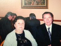 scriitorul CRISTIAN PETRU BALAN -SUA si actrita TAMARA BUCIUCANU -LA RESTAURANT