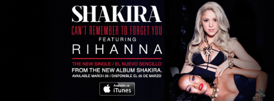 shakira feat rihanna-the new single-can´t remember to forget you-new album shakira