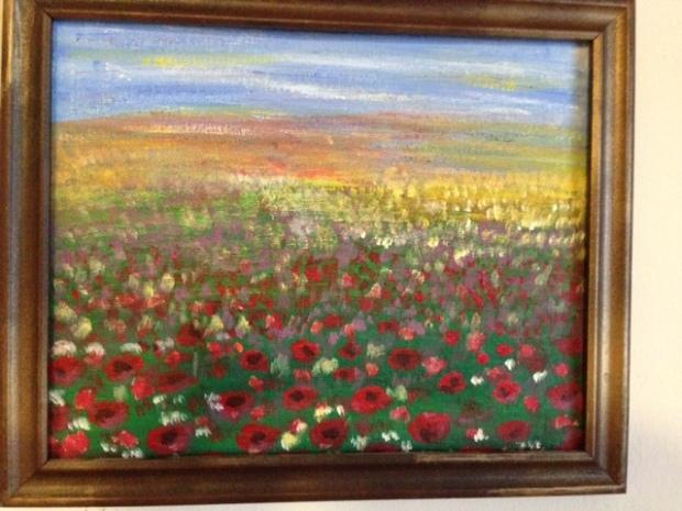 CODRINA C.P.BALAN (SUA)-CAMP CU FLORI (pictura)