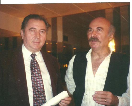 Scriitorul CRISTIAN PETRU BALAN (SUA) si maestrul TUDOR GHEORGHE