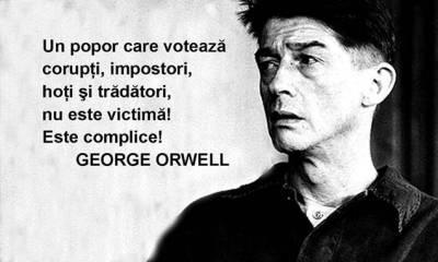 george orwel despre votanti si coruptie
