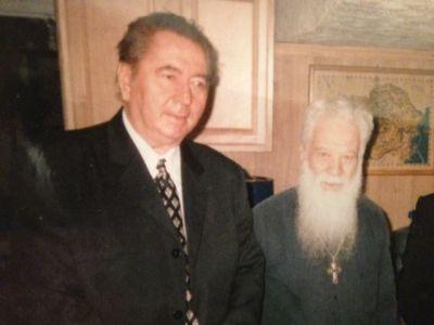 Scriitorul Cristian Petru Balan ,la Washington,impreuna cu preotul  ortodox roman Gheorghe ,Calciu-Dumitreasa,fost legionar, dizident anticomunist și luptător pentru drepturile omului