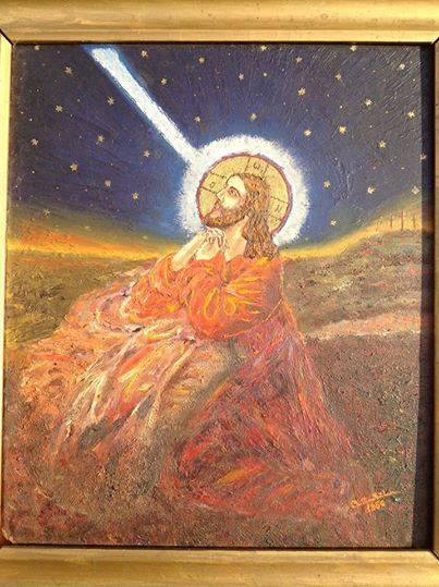 cristian petru balan (SUA)-pictura-iisus pe muntele maslinilor
