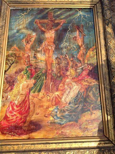 cristian petru balan (SUA)-icoana pictata-CRUCIFICATION-RASTIGNIRE