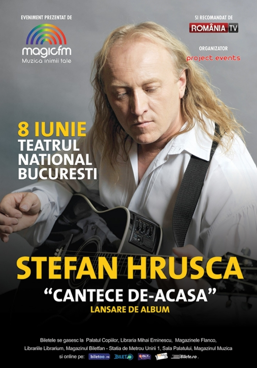 stefan hrusca -lansare album cantece de-acasa-8 iunie -teatrul national bucuresti -concert