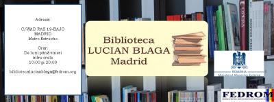 bibioteca lucian blaga madrid-fedrom-biblioteca rumana madrid