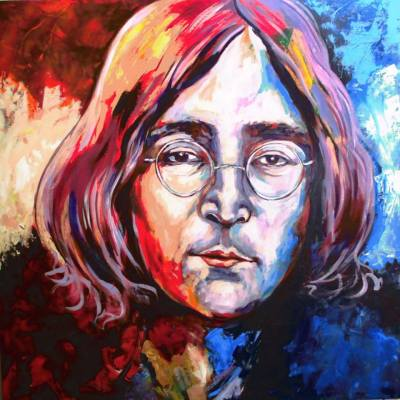 JOHN LENNON (THE BEATLES).Pictura de DE MIRELA BALAN (ITALIA)