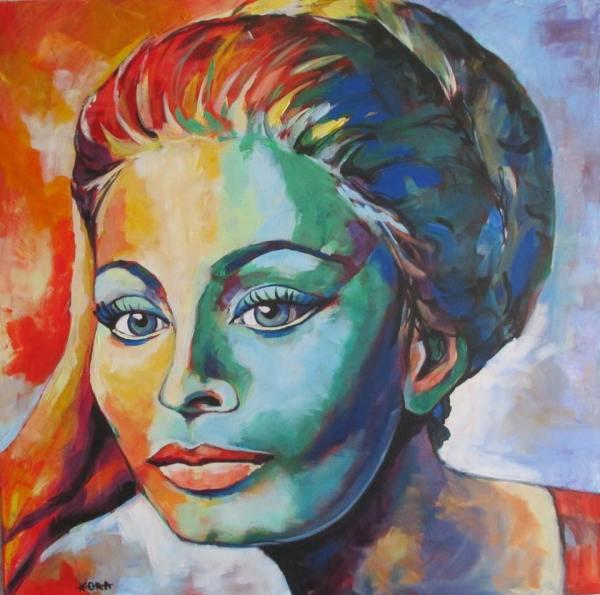 SOPHIA LOREN. Pictura de MIRELA BALAN