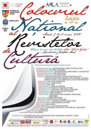 COLOCVIUL NATIONAL AL REVISTELOR DE CULTURA