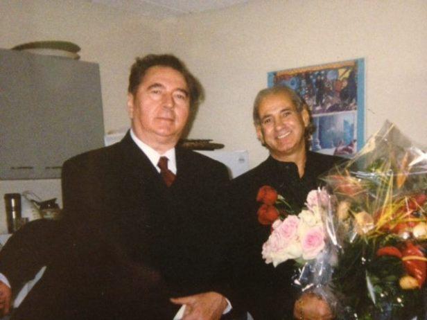 Scriitorul Cristian Petru Balan (SUA) si marele naistGheorghe Zamfir