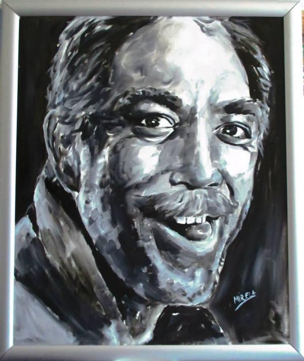 Actorul ANTHONY QUINN-Pictura de MIRELA BALAN (Italia)