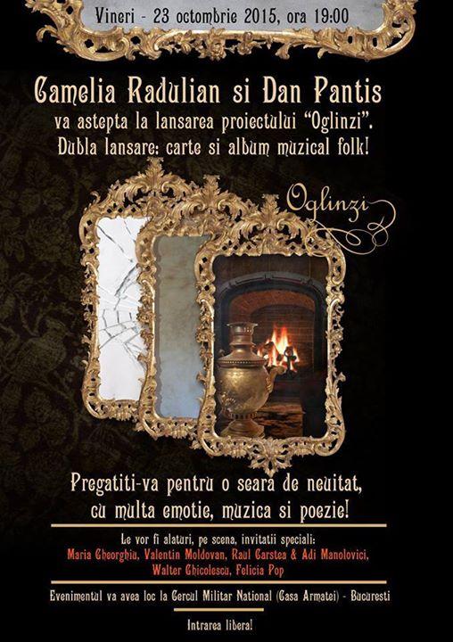 camelia radulian.-lansare volum de versuri OGLINZI- la Cercul Militar National Bucuresti-23 oct.2015